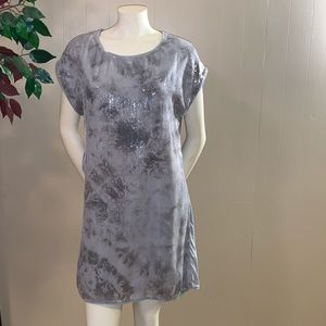 H&M grey sleeveless sequin tunic top/dress.